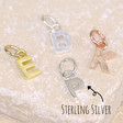 Initial Shaped Charms - sterling silver