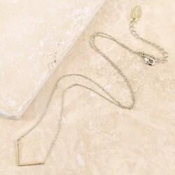 Orelia Dainty Gold Chevron Necklace