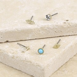 Orelia Set of Five Mixed Mini Boho Stud Earrings