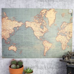 Vintage Map of the World Gift Wrap