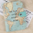Map Print 'Time To Go Explore' Passport Cover