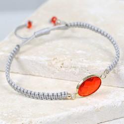 July Ruby Birthstone Friendship Bracelet