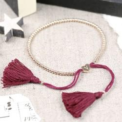 Dainty Links Bracelet in Plum & Rose Gold