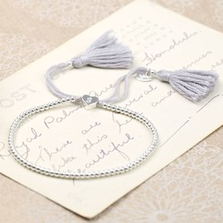 Dainty Links Bracelet in Grey & Silver
