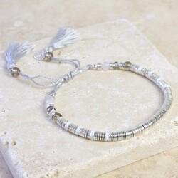Silver Boho Tassel Bracelet