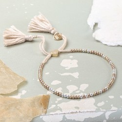 Dainty Links Bracelet in Stone & Mixed Metal