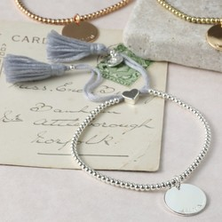 Personalised Dainty Links Bracelet with Name Disc