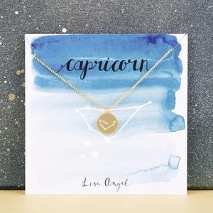 Gold Capricorn Constellation Necklace