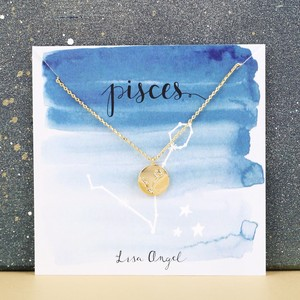 Gold Pisces Constellation Necklace