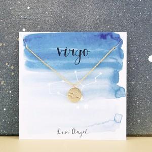 Gold Virgo Constellation Necklace