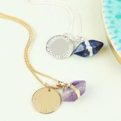 Personalised Semi-Precious Stone Pendant Necklace