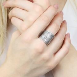 Sterling Silver Vintage Floral Ring