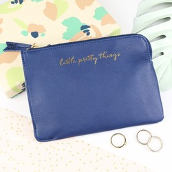 'Little Pretty Things' Navy Pouch