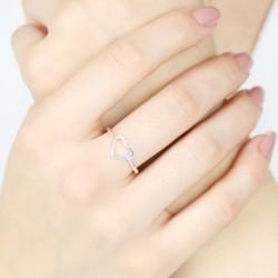 Sterling Silver Open Heart Ring