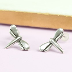Danon Silver Dragonfly Stud Earrings