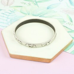 Danon Silver Heart Bangle