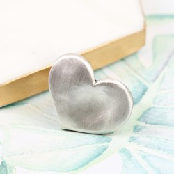 Danon Silver Heart Ring