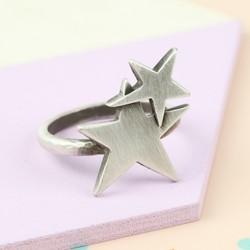 Danon Silver Stars Ring