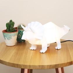 Disaster Designs Nordikka White Origami Triceratops Dinosaur Lamp