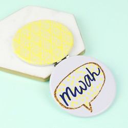 Disaster Designs Yoo Hoo 'Mwah' Compact Mirror