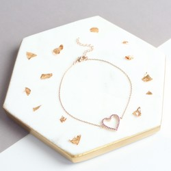 Estella Bartlett Open Heart Bracelet in Rose Gold
