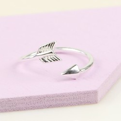 Sterling Silver Arrow Toe or Midi Ring