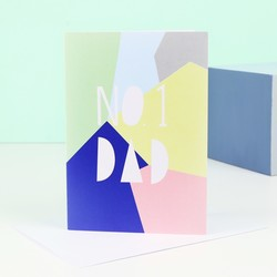 'No.1 Dad' Geometric Father's Day Card