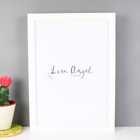 White A4 Print Frame | Frames & Prints | Home Accessories | Lisa Angel