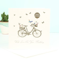 Five Dollar Shake Bicycle Birthday Card