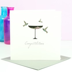 Five Dollar Shake 'Congratulations' Champagne Card