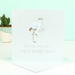 Five Dollar Shake 'New Baby Boy' Card