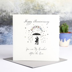 Five Dollar Shake 'You Are My Rainbow' Anniversary Card