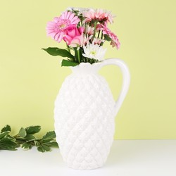 White Ceramic Pineapple Vase