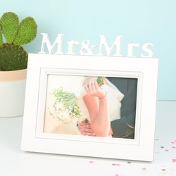 Mr and Mrs White Wooden Frame