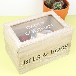 Personalised Wooden 'Bits & Bobs' Box