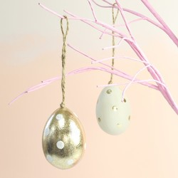 Spotty Easter Egg Hanging Decoration