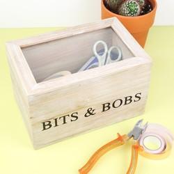 Wooden 'Bits & Bobs' Box