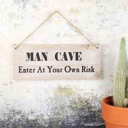 Wooden 'Man Cave' Hanging Sign