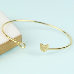 Gold Cat Bangle