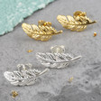 Lisa Angel Feather Studs Earrings