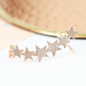 Single Rose Gold Star Ear Cuff