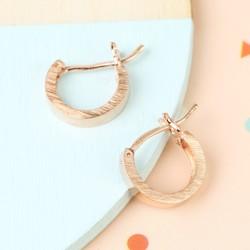 Small Wide Rose Gold Hoop Earrings