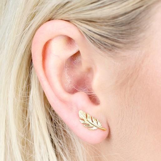 622b57c50 Gold Feather Earrings   Jewellery   Lisa Angel
