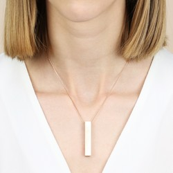 Bold Rose Gold Bar Necklace
