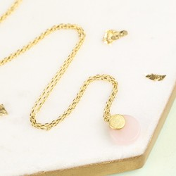 Round Quartz Pendant Necklace