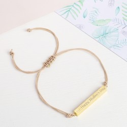 Personalised Bar and Cord Bracelet