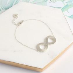 Personalised Sterling Silver Infinity Bracelet
