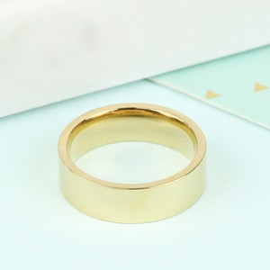 Wide Stainless Steel Ring in Gold -  M/L