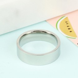 Wide Stainless Steel Ring