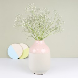 House Doctor Rose Dipped Concrete Vase